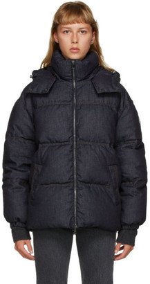 Moncler Navy Down Denim Kundogi Coat