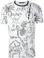 Dolce & Gabbana tropical music print T-shirt - men - Cotton - 46
