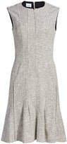 Akris Punto Twill Flounce Sheath Dress