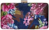 Jessica McClintock Noelle Floral Velvet Minaudiere Handbags