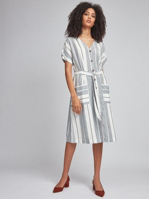 Dorothy Perkins Stripe Shirt Dress - Navy