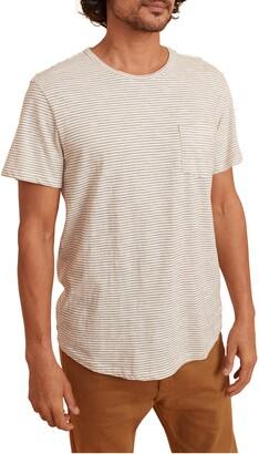 Marine Layer Saddle Stripe Pocket T-Shirt