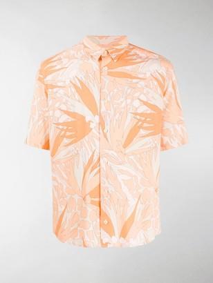 Saint Laurent Jungle Flower print short-sleeved shirt