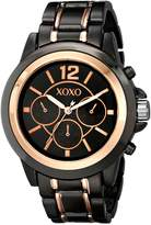 XOXO Women's XO5585 Gunmetal and Rose Gold Bracelet Watch