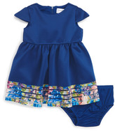 Us Angels Cap Sleeve Scuba Dress (Baby Girls)