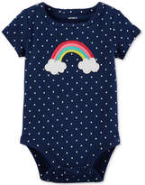 Carter's Dot-Print Rainbow Cotton Bodysuit, Baby Girls