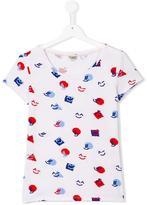 Kenzo emoji print T-shirt - kids - Cotton/Spandex/Elastane - 16 yrs