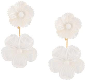 Jennifer Behr Zinnia flower earrings