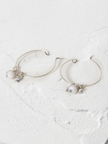 White Stuff Frosted fragment hoop earring
