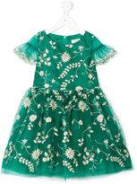 David Charles Kids - embroidered floral dress - kids - Polyester/Acetate - 2 yrs