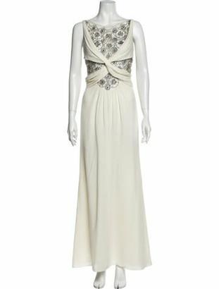 Valentino Bateau Neckline Long Dress White