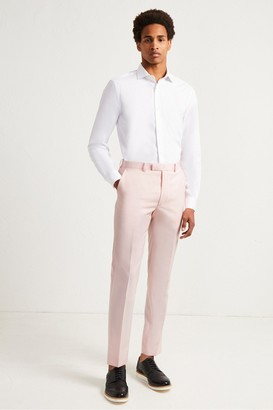 French Connection Light Pink Marl Suit Trousers