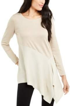 Alfani Petite Colorblocked Asymmetrical Sweater, Created For Macy's