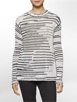 Calvin Klein Womens Space-Dyed Crewneck Sweater