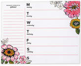 Vera Bradley Coral Floral Weekly To-Do Notepad