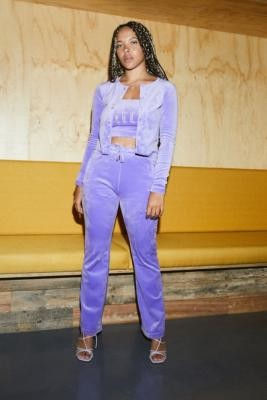 Juicy Couture UO Exclusive Dusky Lilac Flare Track Pants - Purple L at Urban Outfitters