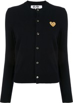 Comme des Garcons embroidered heart patch cardigan