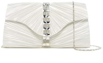 Jessica McClintock Florence Embellished Satin Clutch