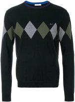 Sun 68 argyle knitted sweater