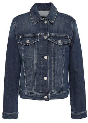 Love Moschino Appliqued Printed Denim Jacket