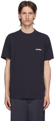 Vetements Navy Logo Front Back T-Shirt