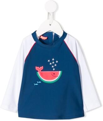 Sunuva Kids watermelon whale print rash vest