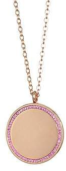 Astley Clarke The Cosmos Large Pink Sapphire& 14K Yellow Gold Locket Pendant Necklace