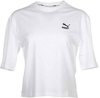 Puma Tailored For Sport Graphic Tee White) Women's Clothing