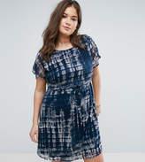 Junarose Tie Dye Dress With Drawstring Waist