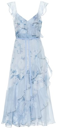 Marchesa Notte Floral chiffon dress