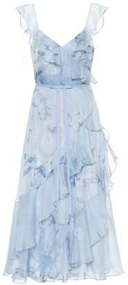Marchesa Floral chiffon dress