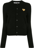 Comme des Garcons embroidered logo patch cardigan