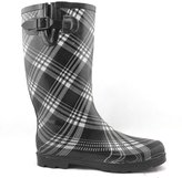 SNJ Women's Mid Calf Knee High Waterproof Rubber Garden Rainboots