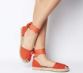 Office Summer Bay Espadrille With Ties Orange