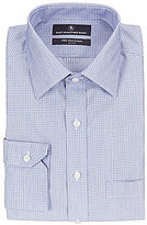 Hart Schaffner Marx Non-Iron Fitted Classic-Fit Spread-Collar Tonal Check Dress Shirt