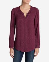 Eddie Bauer Women's Falling Leaves Long-Sleeve Shirt - Print