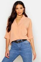 Boohoo Katherine Rever Collar Oversized Shirt