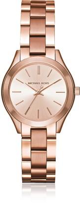 Michael Kors Mini Slim Runway Rose Gold Tone Women's Watch
