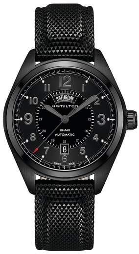 Hamilton Khaki Field Automatic Silicone Strap Watch, 42mm