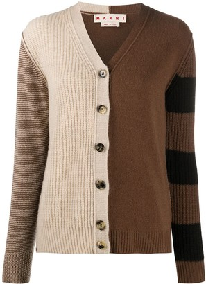 Marni Cashmere Colour-Block Knitted Cardigan