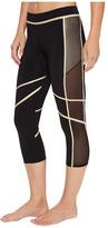 Luli Fama Warrior Spirit Mesh Side Capri Women's Casual Pants