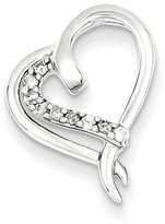 jewelryPot Sterling Silver Diamond Heart Pendant (Color , Clarity SI2-I1)