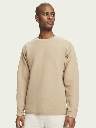 Scotch & Soda Oversized long sleeve cotton-blend knit | Men