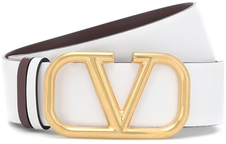 Valentino VLOGO reversible leather belt