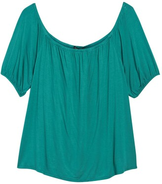 Gibson Off-The-Shoulder Puff Sleeve Top (Plus Size)