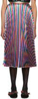 Gucci Multicolor Lurex Plissé Skirt