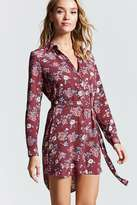 Forever 21 Belted Floral Shirt Dress