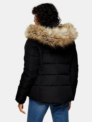 Topshop Frieda Padded Jacket -Black