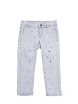 Simonetta Embroidered Denim Capri Jeans