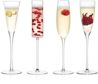 LSA International Lulu Assorted Champagne Flutes, Set of 4